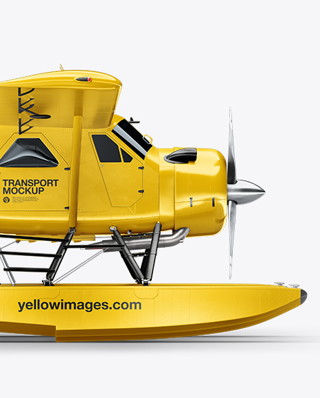 Seaplane Mockup - Side View
