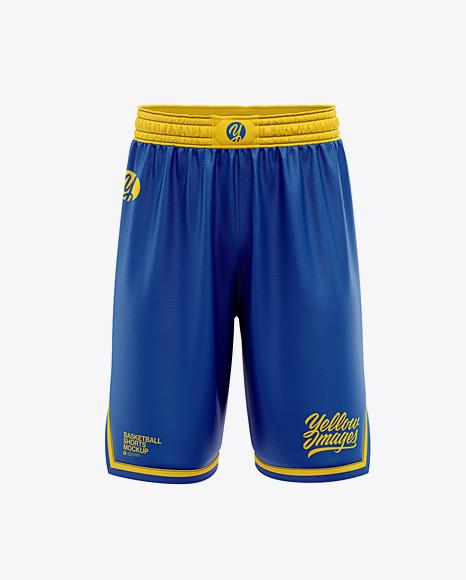 Men's Basketball Shorts Mockup - Front View