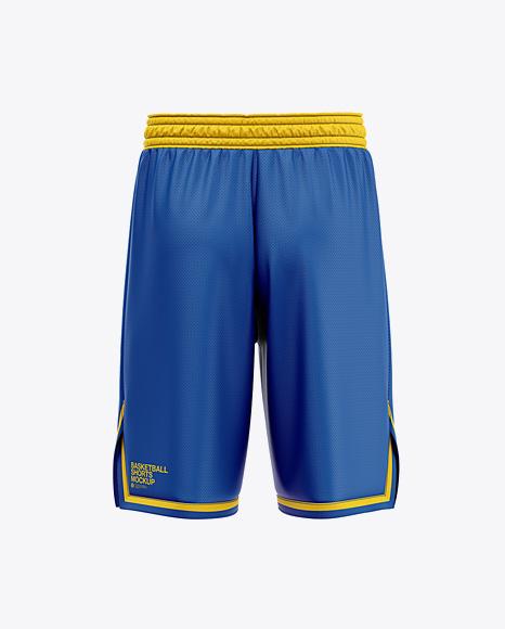 Men's Basketball Shorts Mockup - Back View