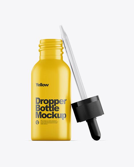 Opened Matte Dropper Bottle Mockup