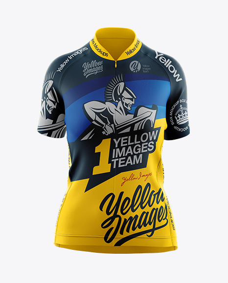 Women's Cycling Jersey Mockup - Front View