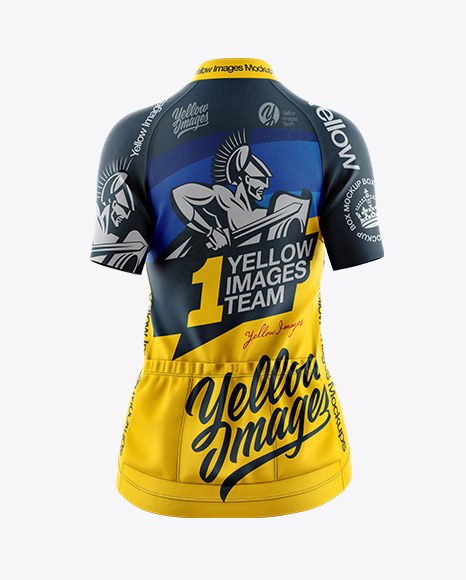 Easy to edit and use. Download Women S Cycling Jersey Mockup Back View Object Mockups Free Psd Mockups T Shirt Templates