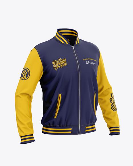 Bomber Jacket Mockup Psd Free : bomber, jacket, mockup, Download, Men's, Zipped, Bomber, Jacket, Mockup, Front, Half-Side, Object, Mockups, Premium