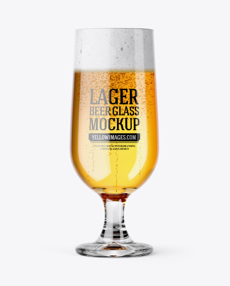 Embassy Glass with Lager Beer Mockup