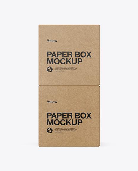 Two Kraft Boxes Mockup - Side View