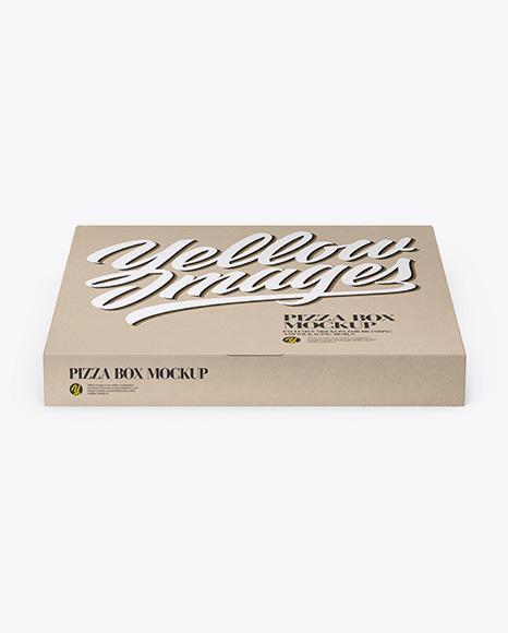 Pizza Kraft Box Mockup - Front View
