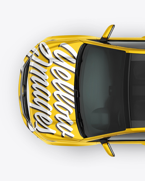 SUV Сrossover Mockup - Top View