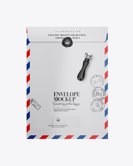 Matte Paper Envelope Mockup