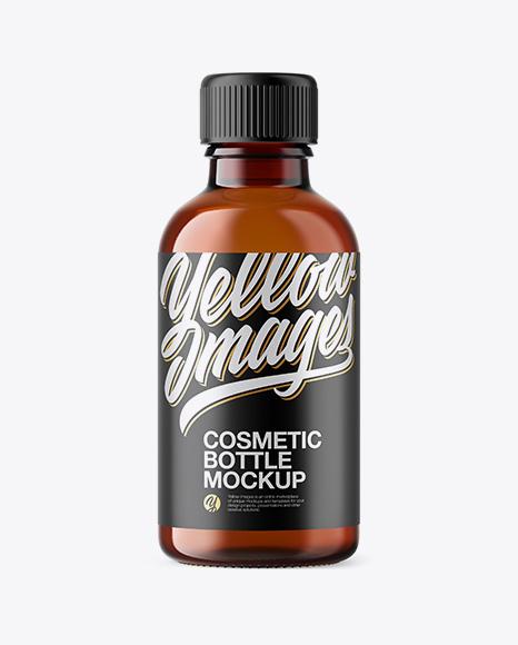 50ml Amber Glass Сosmetic Bottle