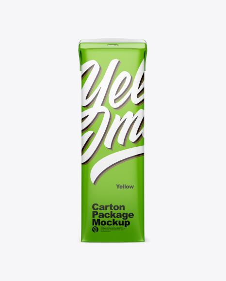 Matte Carton Package Mockup