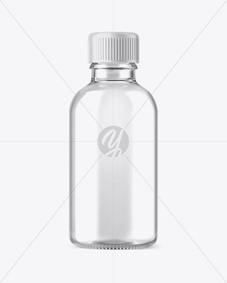 Download Clear Glass Collagen Bottle Psd Mockup Yellowimages