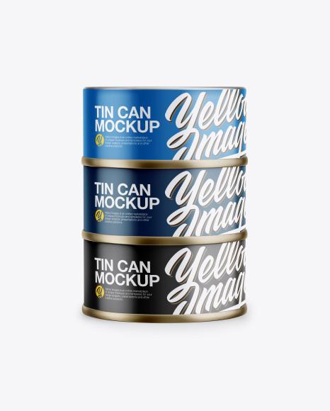 Three Tin Cans Mockup