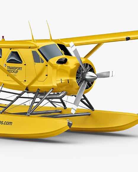 Seaplane Mockup - Half Side View