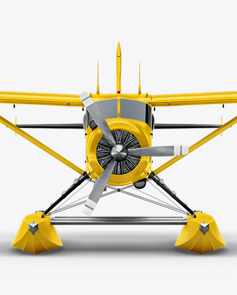Seaplane Mockup - Front View