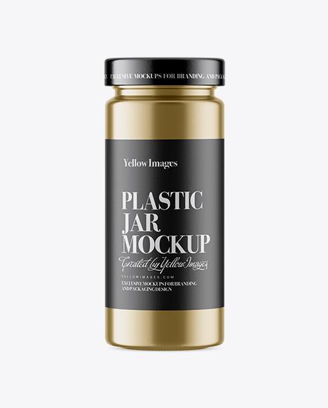 Download Metallized Plastic Jar Psd Mockup Yellowimages