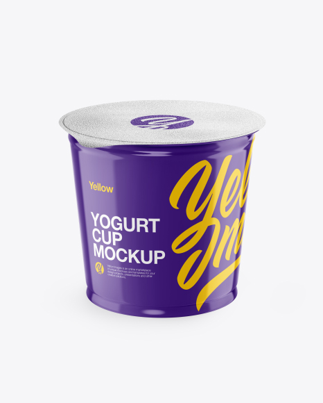 Glossy Yogurt Cup Mockup