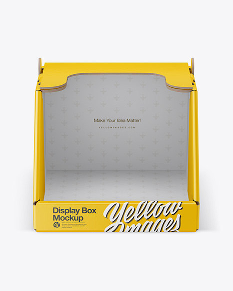 Download Display Box With Pots Pack Psd Mockup Yellowimages