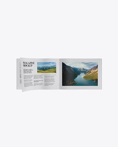 Opened Textured Magazine Mockup