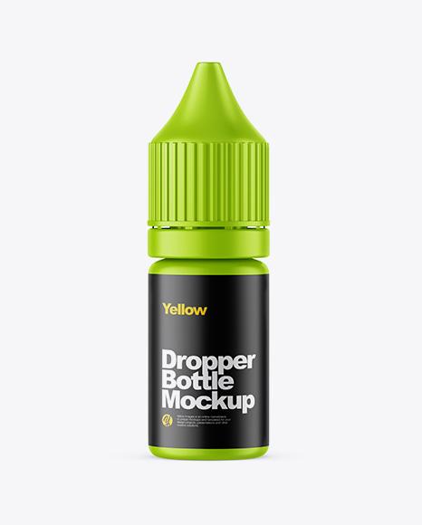 10ml Matte Dropper Bottle Mockup