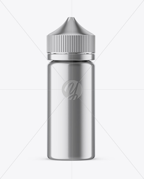 Download 100ml Metallic Dropper Bottle Psd Mockup Yellow Images