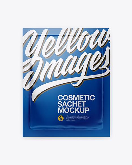 Cosmetic Sachet Mockup