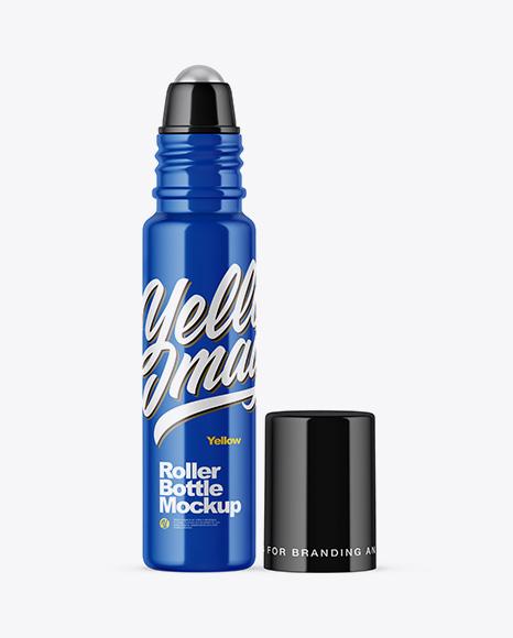 10ml Glossy Roller Bottle Mockup