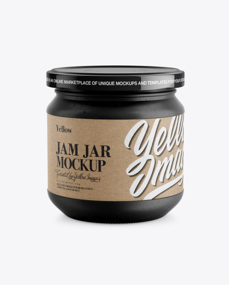 Ceramic Jar w/ Kraft Label Mockup