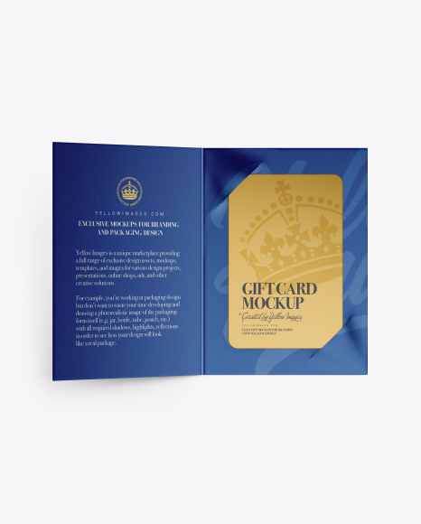 Metallic GIft Card Mockup