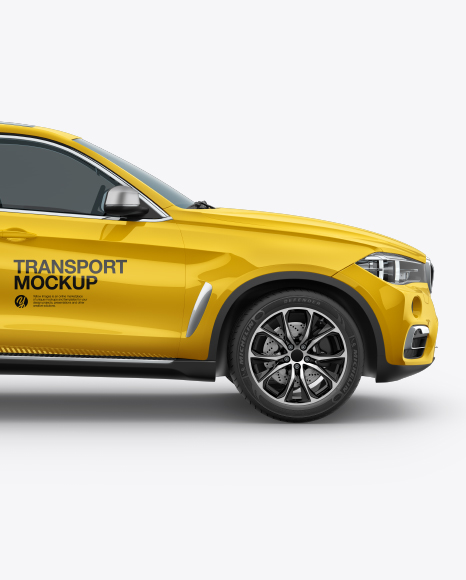 SUV Crossover Car Mockup - Side View