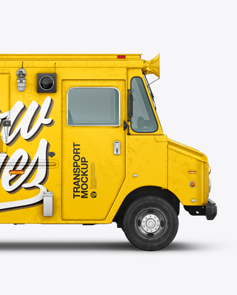 Foodtruck Mockup - Side View
