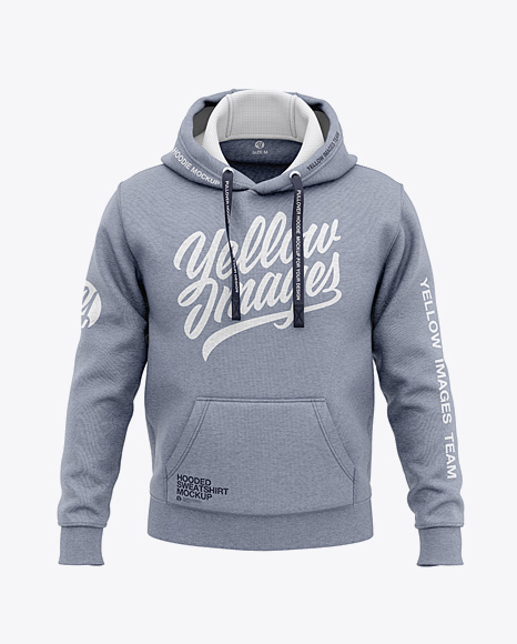 Men's Heather Pullover Hoodie - Front View