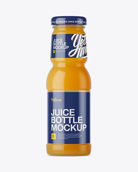 Orange Juice Bottle Packaging Mockups