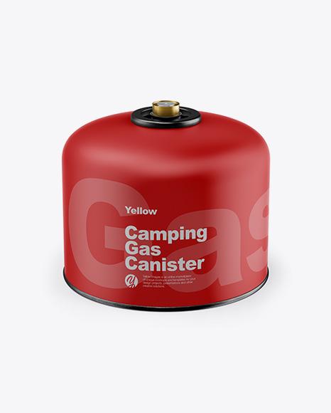 Matte Gas Canister Mockup