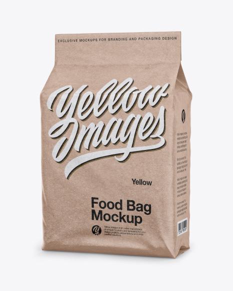 Kraft Stand-up Food Bag Mockup