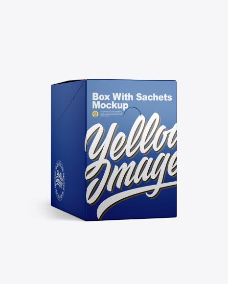 Closed Box w/ Sachets Mockup