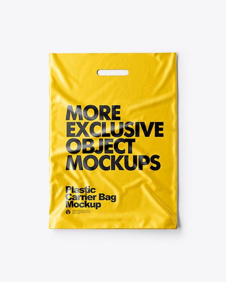 Free wine bottle label mockup. Plastic Carrier Bag Mockup In Object Mockups On Yellow Images Object Mockups