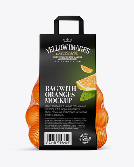 Bag with Oranges Mockup