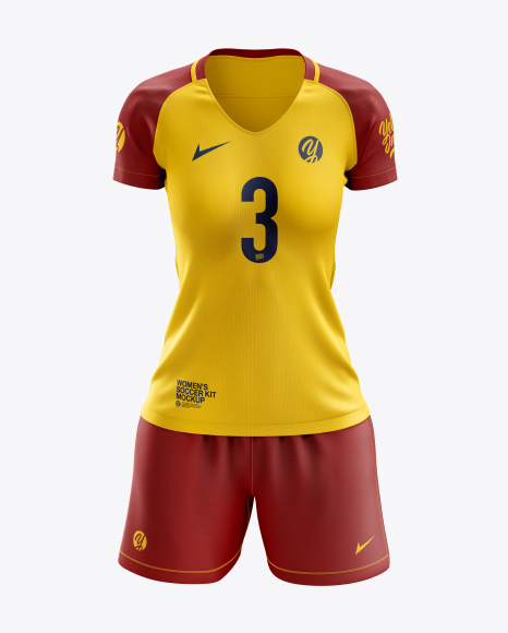 Women's Soccer Kit mockup (Front View)