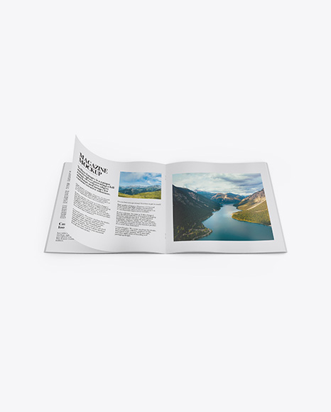 Textured Opened Magazine Mockup