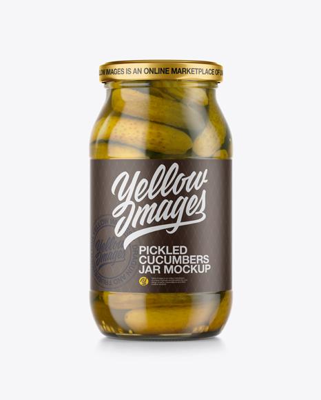 Pickled Cucumbers Jar Mockup