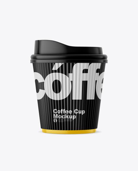 Matte Coffee Cup w/ Sleeve Mockup