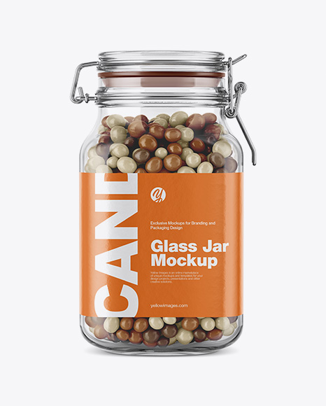 Candies Glass Jar Mockup