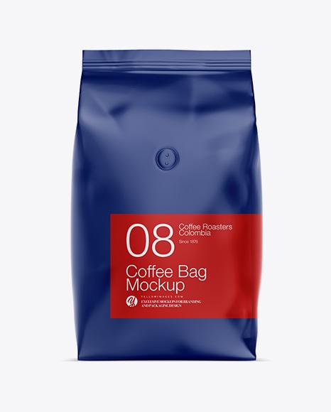 1kg Matte Coffee Bag Mockup