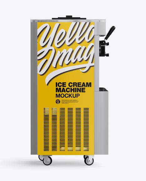 Ice Cream Machine Mockup - Side View