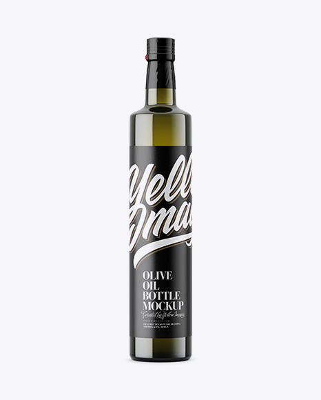 Green Glass Olive Oil Bottle Mockup