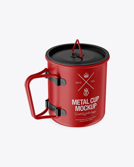 Matte Metal Cup Mockup