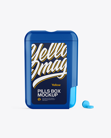 Glossy Pills Box Mockup