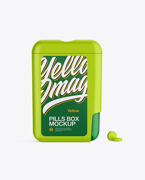 Matte Pills Box Mockup