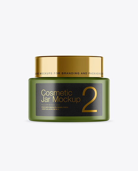 Plastic Cosmetic Jar Mockup
