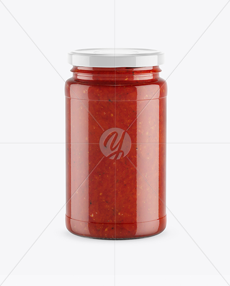 Download Clear Glass Jar Beet Sauce Psd Mockup Yellowimages